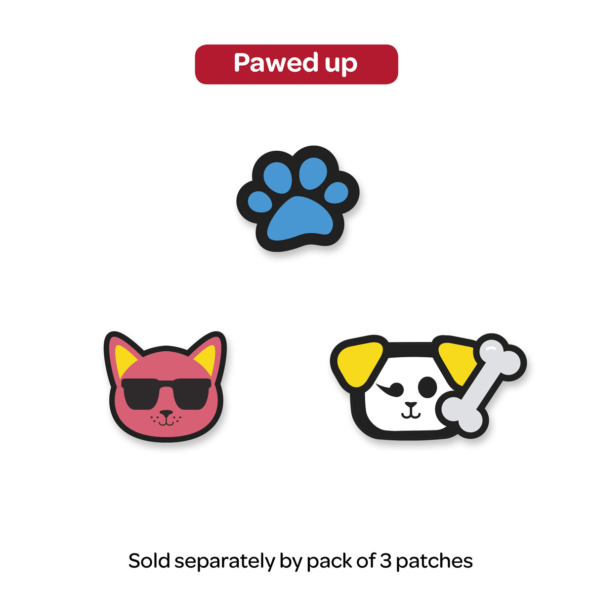 I Love WonderWink Removable Patches - PAW
