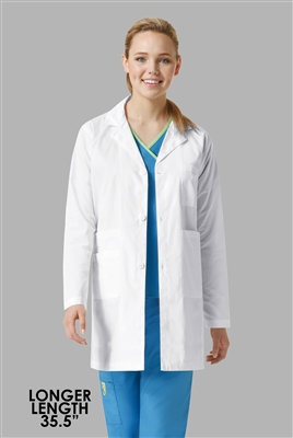 Long Unisex Student White Lab Coats To Wear Over Your Scrubs